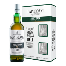 Laphroaig Islay Single Malt Scotch Whisky 700ml [Select Cask with glasses]