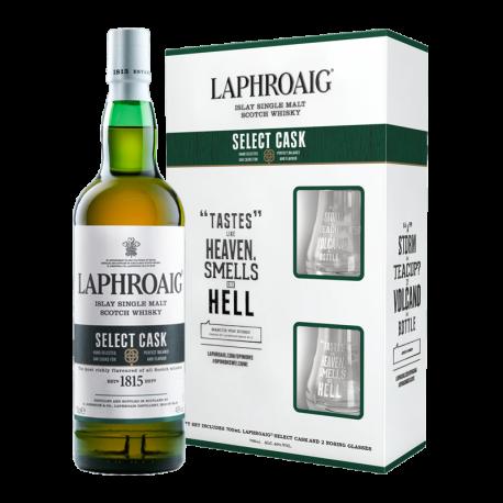 Laphroaig Islay Single Malt Scotch Whisky 700ml [Select Cask with glasses]