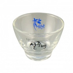 Plum wine shot glass