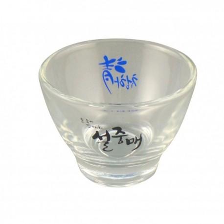 Plum wine shot glass