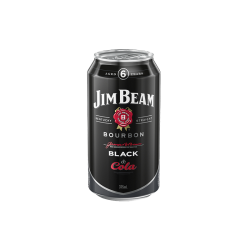 Jim Beam Black Label Bourbon and Cola 375mL